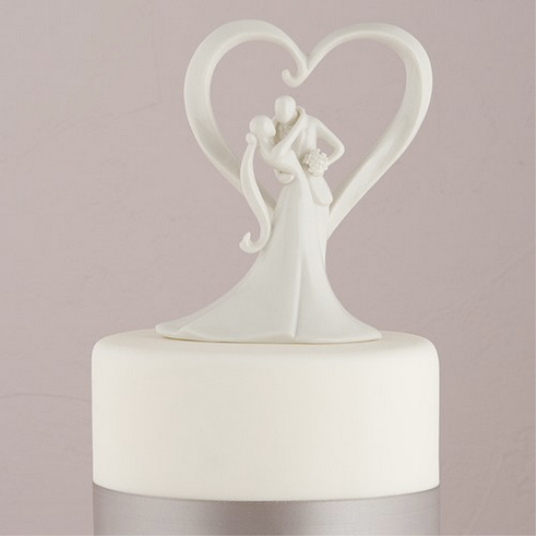 Stylish Embrace Cake Topper-Cake Toppers-Wedding Star-7087-Sweet Heart Details