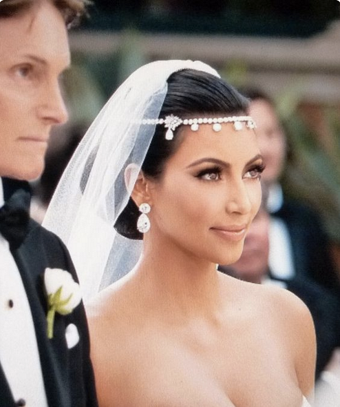 """The KimK"" Rhodium Crystal & Rhinestone Forehead Headpiece"