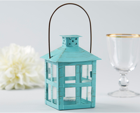 Vintage Blue Distressed Lantern