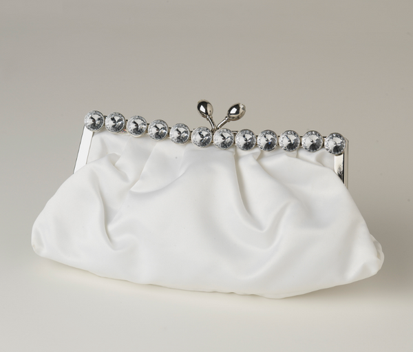 """The Clementine"" Satin Evening Bag (Black or White)"