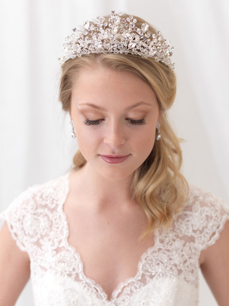 """The Danielle"" Bliss Swarovski Crystal Tiara"