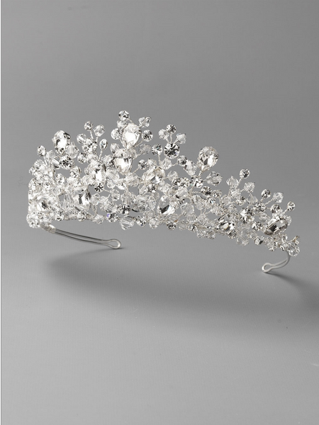 """The Danielle"" Bliss Swarovski Crystal Tiara-Tiaras & Headbands-Dareth Colburn-Sweet Heart Details"
