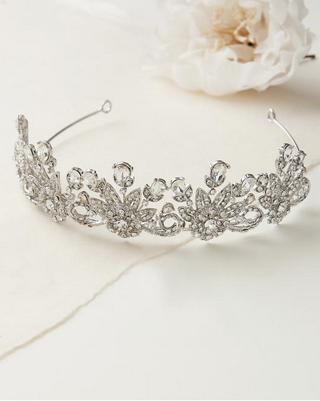 """The Kayla"" Royal Beauty Tiara in Antique Silver"