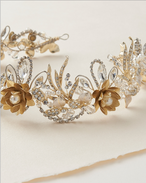 """The Thea"" Floral Crown"