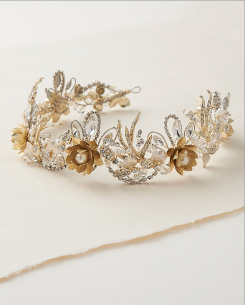 """The Nicole"" Floral Crown Tiara"