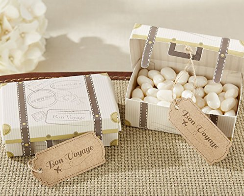 """Bon Voyage"" Vintage Suitcase Favor Box (96)-Wedding Favors & Favor Holders-Kate Aspen-28202NA-Sweet Heart Details"