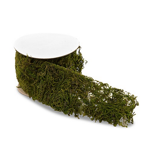 Faux Moss Ribbon Rolls (6 rolls; 21 feet) - Sweet Heart Details