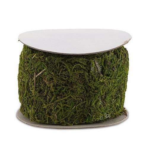 Faux Moss Ribbon Rolls (6 rolls; 21 feet)
