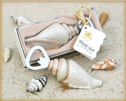"""Shore Memories"" Sea Shell Bottle Openers-Wedding Favors & Favor Holders-Kate Aspen-Sweet Heart Details"