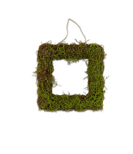 Faux Moss And Wicker Square Frame
