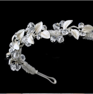 """The Deanne"" Floral Swarovski Headband - Sweet Heart Details"