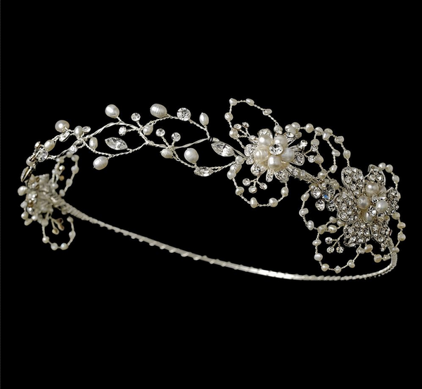 """The Milly"" Silver & Freshwater Pearl Circlet"
