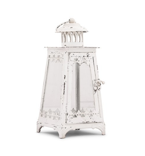Metal & Glass Pyramid Lanterns - Sweet Heart Details