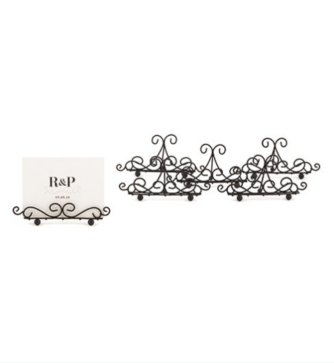 Ornamental Wire Card Holders (24)-Placecard Holders-Wedding Star-Sweet Heart Details