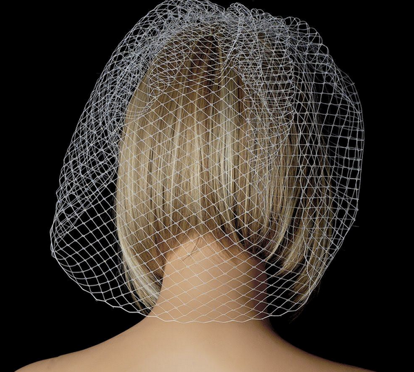 """The Diane"" Single Layer Russian Birdcage Veil"