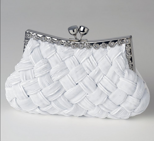 """The Gaya"" Satin Weave Evening Bag-Bags-Wedding Factory-Sweet Heart Details"