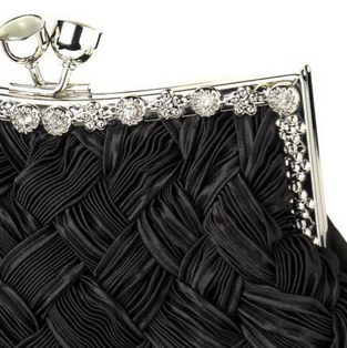 """The Gaya"" Satin Weave Evening Bag"