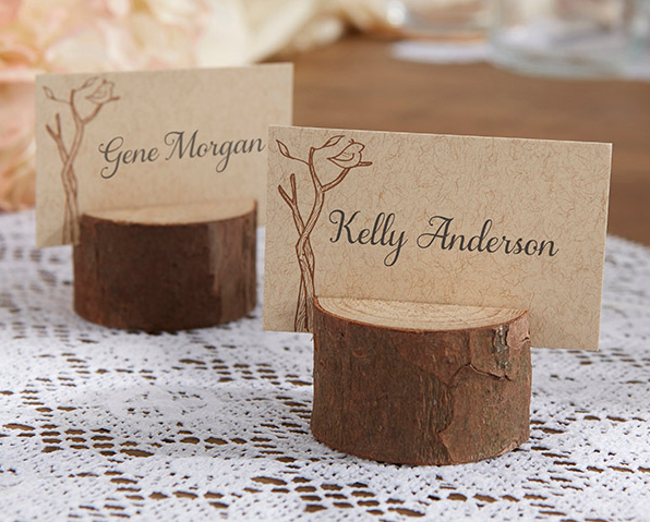Rustic Real-Wood Place Card/Photo Holders-Placecard Holders-Kate Aspen-Sweet Heart Details