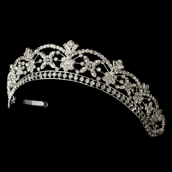 """The Anne"" Rhinestone Tiara Headpiece-Tiaras & Headbands-Wedding Factory-HP-305-Sweet Heart Details"