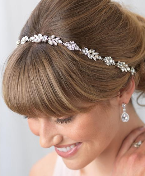 """The Marcella"" Crystal Hair Vine-Tiaras & Headbands-Dareth Colburn-TI-3331-Sweet Heart Details"