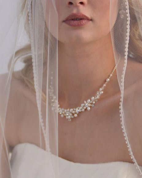 """The Natasha"" Delicate Pearl Jewelry Set-Jewelry Sets-Dareth Colburn-Sweet Heart Details"