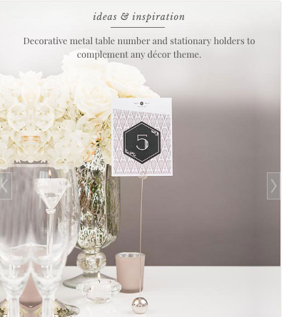 Classic Round Table Number Place Card Holders - Sweet Heart Details