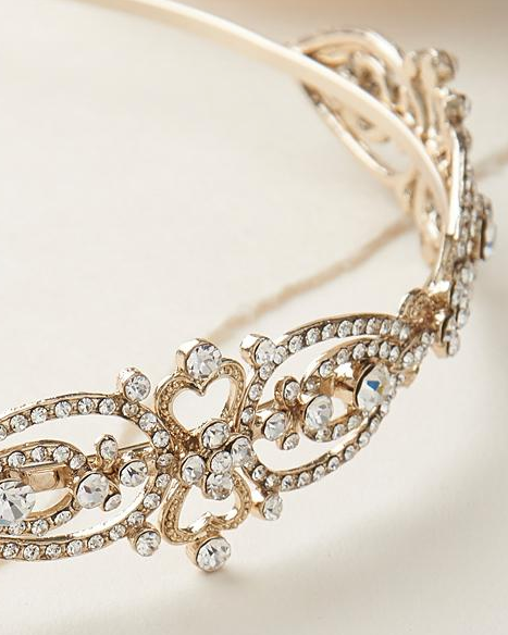 """The Jade"" Antique Headband - Sweet Heart Details"