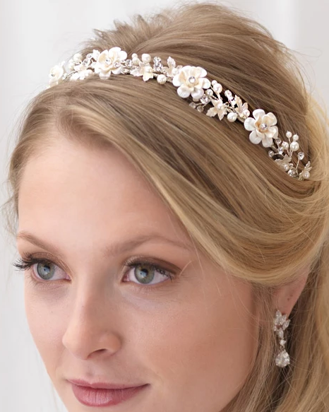 """The Emma"" Floral Headband - Sweet Heart Details"