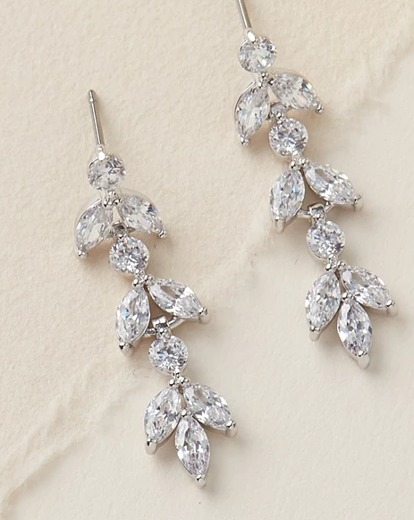 """The Sydney"" Floral CZ Earrings - Sweet Heart Details"