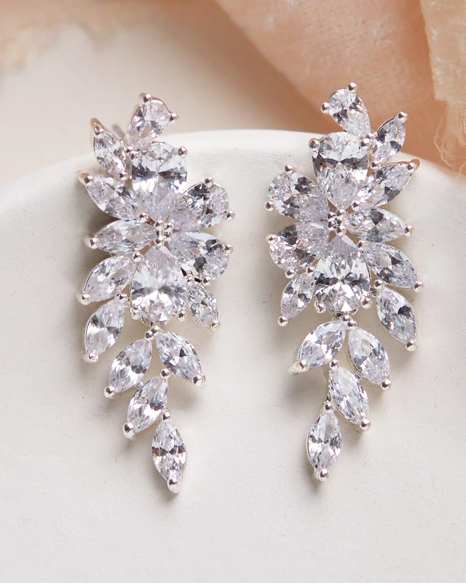 """The Vivian"" CZ Dangle Earrings by Dareth Colburn - Sweet Heart Details"