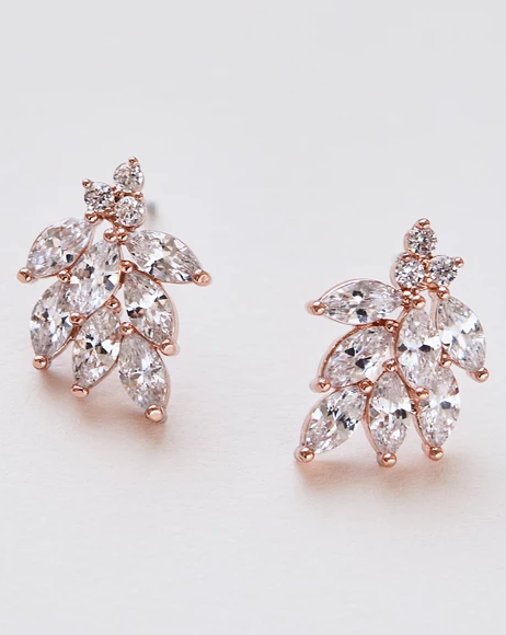 """The Mia"" Floral CZ Earrings by Dareth Colburn - Sweet Heart Details"