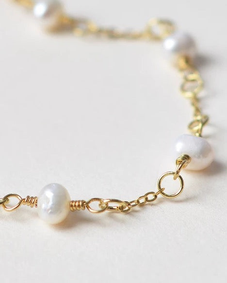 Scattered Pearl Wedding Bridesmaid's Bracelets (3)-Bridal Party Gifts-JB-4855-G-Sweet Heart Details