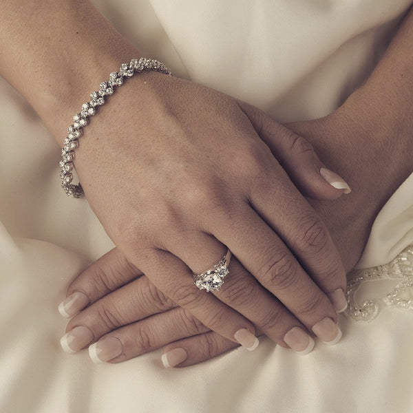 """The Serenity"" Crystal ""Follow my Heart"" Bracelet-Bracelets-Wedding Factory-Sweet Heart Details"