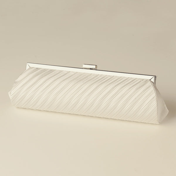 """The Stephany"" Pleated Satin Bag - Sweet Heart Details"