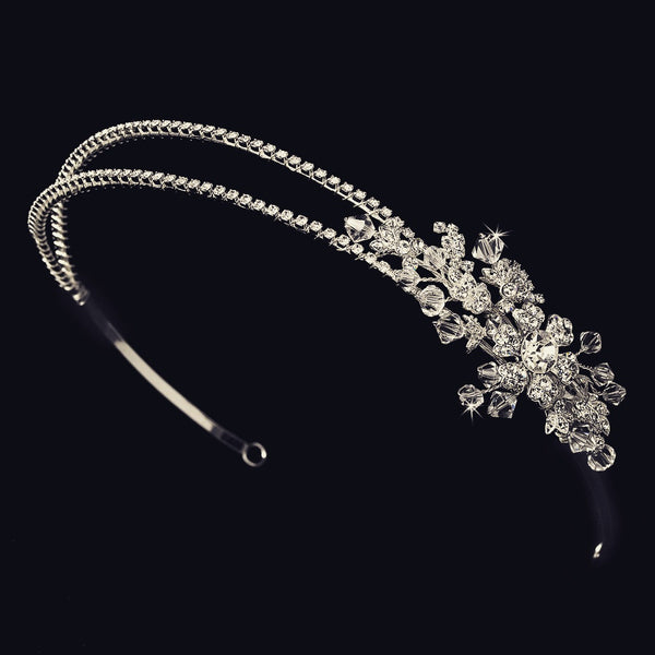"""The Susan"" Double Crystal Headband (Gold/Silver)"