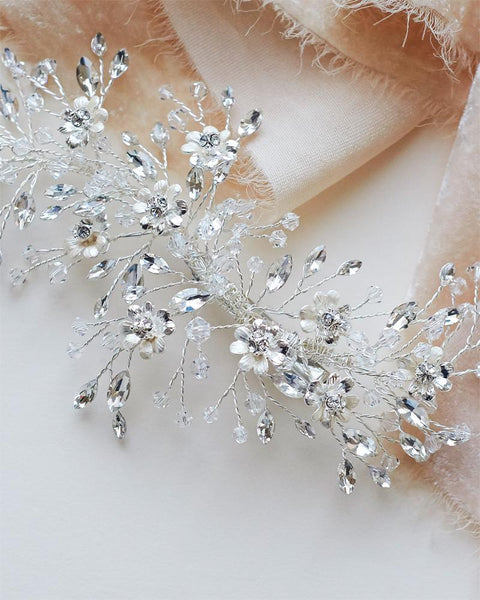 """The Blossom"" Bridal Hair Clip-Combs & Clips-Dareth Colburn-TC-2336-S-Sweet Heart Details"