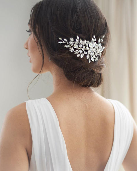 """The Stella"" Bridal Comb - Sweet Heart Details"