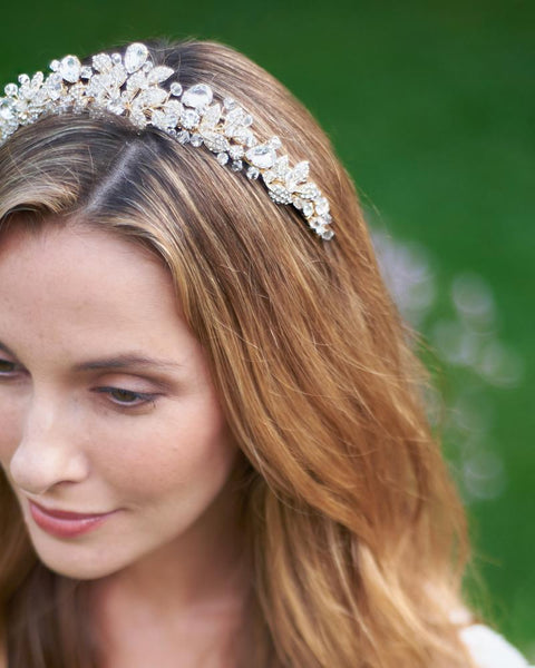 """The Andrea"" Spectacular Swarovski Crystal Tiara - Sweet Heart Details"