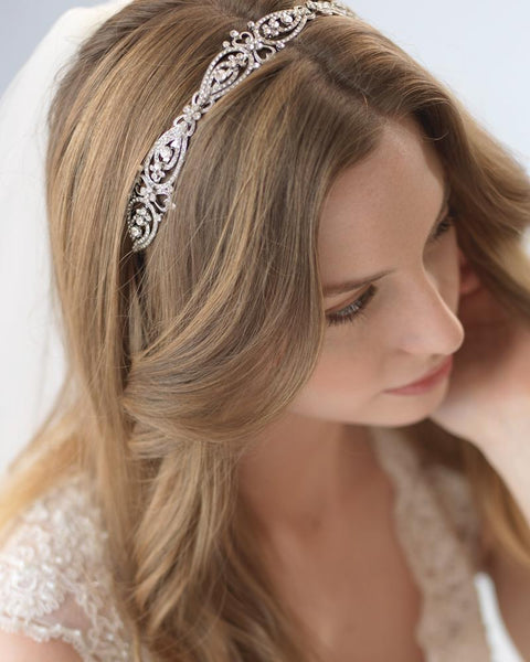 """The Jade"" Antique Headband-Tiaras & Headbands-Sweet Heart Details"