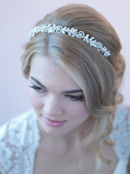 """The Adalia"" Fresh Water Pearl Headband"