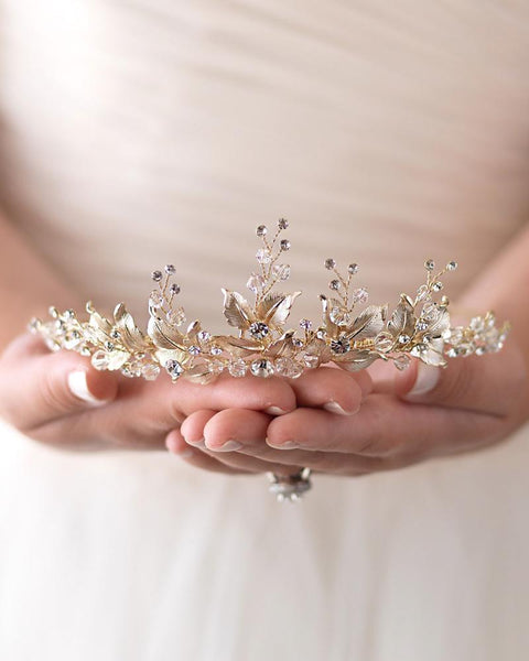 """The Juliet"" Floral Tiara"
