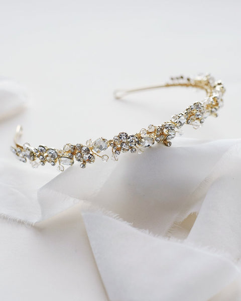 """The Eliza"" Crystal Headband-Tiaras & Headbands-Dareth Colburn-Sweet Heart Details"