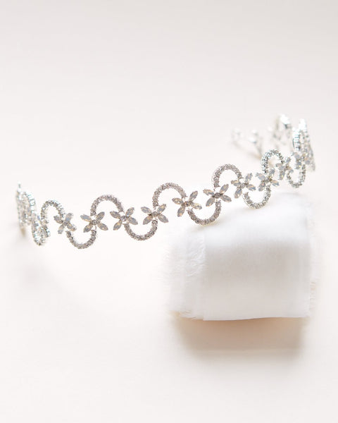 Ariel Opal Wedding Headband - Sweet Heart Details