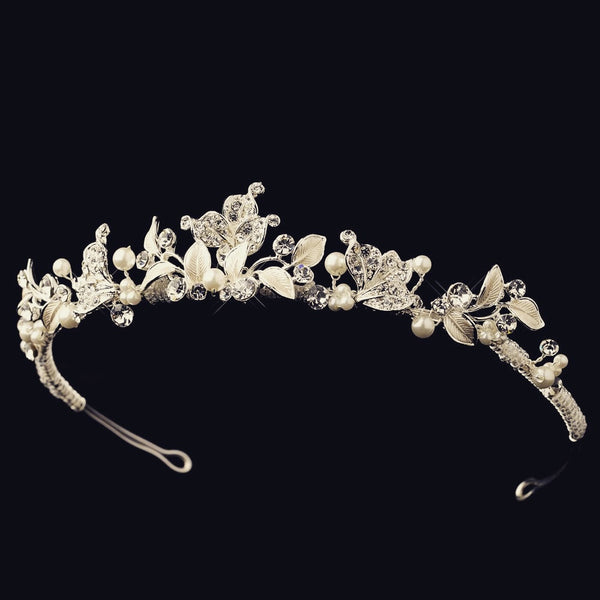 """The Tanya"" Rhinestone Pearl H'band (Gold/Silver)"