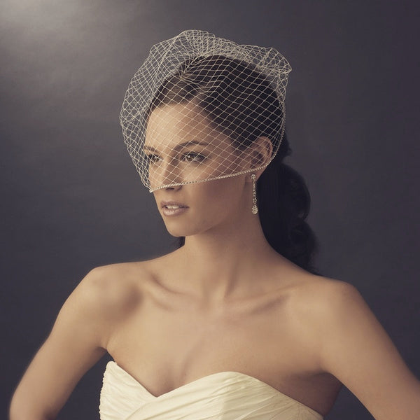 """The Thandie"" Single Layer Birdcage Face Veil"