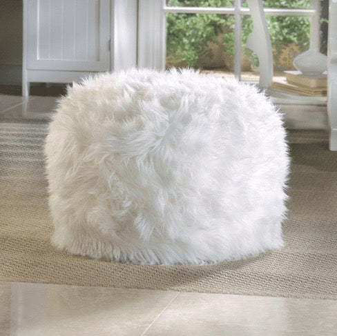 White Ottoman Pouf-Wedding Decorations-Sweet Heart Details