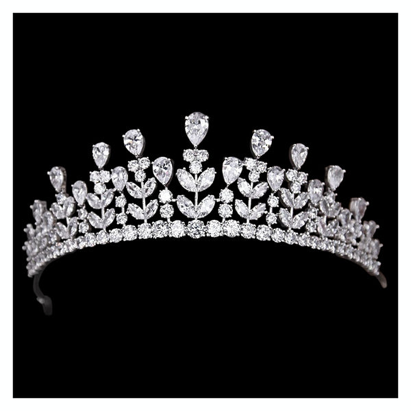 """The Dioma"" Luxe Tiara-Tiaras & Headbands-1962-Sweet Heart Details"