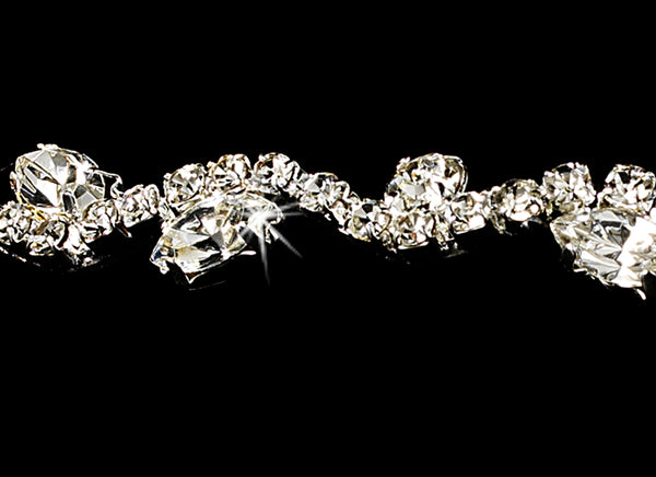 """The Jasmine"" Crystal and Marquise Tiara - Sweet Heart Details"