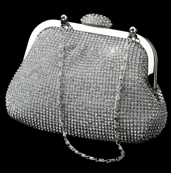 """The Matilda"" Silver Sparkle Evening Bag"