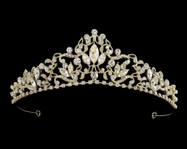 """The Janet"" Marquise Tiara-T-55858-G-Sweet Heart Details"